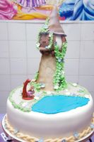 My B-day Tangled cake! by yunekris