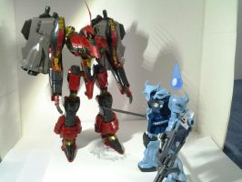 NINEBALL-SERAPH vs High Grade Gouf C by PhantasmaStriker