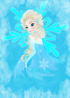 Elsa the Snow queen by aerith31