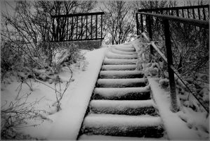 stair in snow by April-Mo