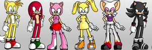 Sonic and co. by Hooktail-and-me