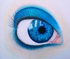 Blue Eye by xzomborx