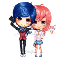 C: Chibi couple Hollins and Reka by xxxRinRulesxxx