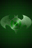 Metalic Green Lantern Batman 2 by KalEl7