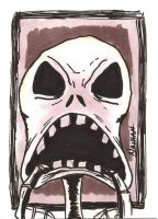 Scary Jack Sketch Card by Fellhauer