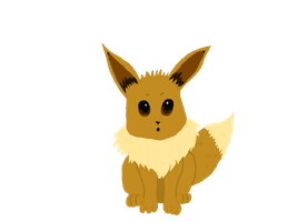 Colored Eevee by AGirlWithDreams96