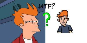 Philip J. Fry and Mikey Simon by D-WTF