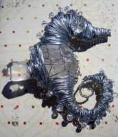 Wire and Quartz Seahorse by gavenecko