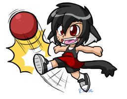 Little Lara kick by rongs1234