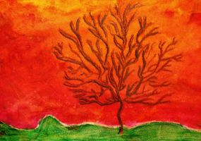 Red Tree. By: my sister by SabastionLover