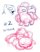 Ivysaur doodles by PetiteLaSouris