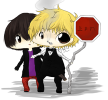 Shizuo and Kasuka OuO by Yaichiko
