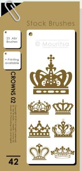 Brush Pack - Crowns 02 by MouritsaDA-Stock