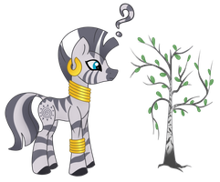 Zecora and Birch by GreyMirror