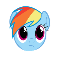 Rainbow Dash  face by lolke12