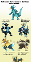 Pokemon Subspecies Golduck by Phatmon