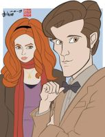 Amy Pond and Doctor Who by howardshum