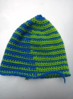 Wool lime and blue hat by Shankler