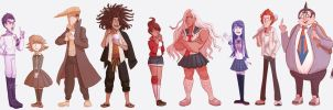 all Danganronpa: trigger happy havoc characters by Miss-Ponytails