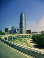 Torre Agbar by Nicollaos