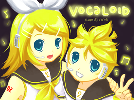 Vocaloid Kagamine Rin and Len by kamifish
