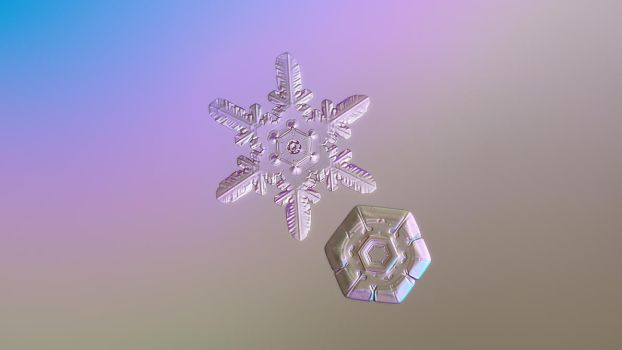 Two hearts: valentine's day snowflake wallpaper by ChaoticMind75