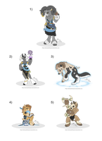 [Closed] Adoptables: Voodoo Goats by MySweetQueen