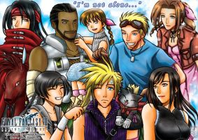 FF7 AC - The gathering... by sapphirez