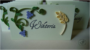 Quilling - first Communion/name tag 1 by Eti-chan