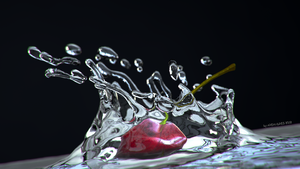 Cherry fluid wallpaper by AREANDRES