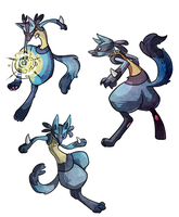 Action poses by Pokeaday