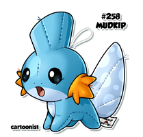 Mudkip Patchwork by cartoonist
