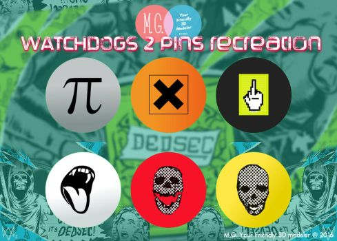 Watchdogs 2 Pins Recreation (Free Download) by twitte0king