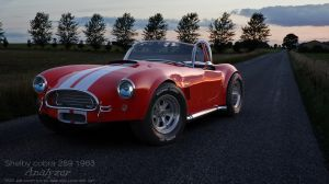 New render- Cobra on the road by AnalyzerCro