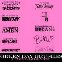 Green Day Brushes by urmyCOWBOY320