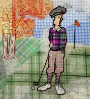 The Golfer by JorgenGedeon