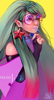 Neon Witch by Naussi