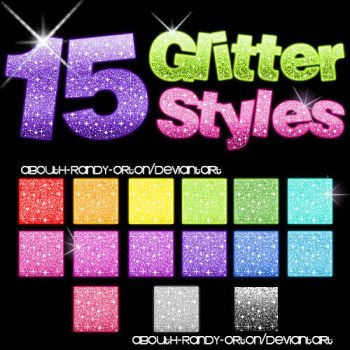 15 Glitter Styles For Photoshop by UnlimitedPatrick