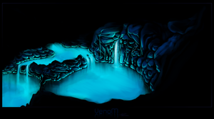 CA | Blue Caves by Owlivia