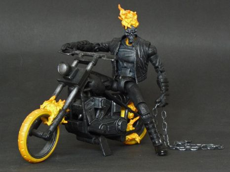 Marvel Legends Ghost Rider custom with hellcycle by LuXuSik