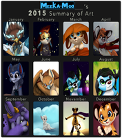Meeka-Moo's 2015 Summary of Art by Meeka-Moo