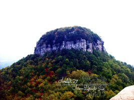 pilot mountain knob by loreleft27