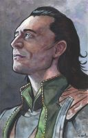Loki Watercolor Painting... by ssava