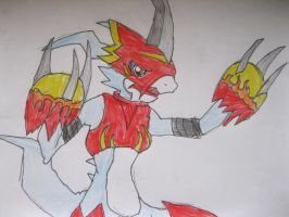 Flamedramon is angry by NewMoon-Dragoness