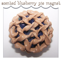 Scented Blueberry Pie Magnet by kc-sweet-treats