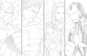 Avengers Pencils by sorah-suhng