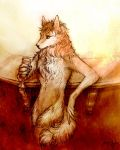 Wolf Anthro Barkeep Commission by yuumei
