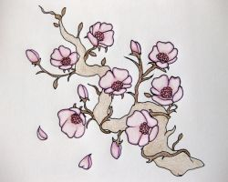 Cherry Blossom Tattoo Design by laurenjay