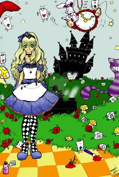 Alice in Wonderland by melon-banzai