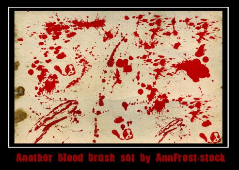 Another blood brush set by AnnFrost-stock